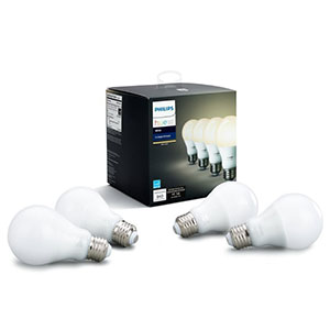 4. Philips White A19 60W LED Smart Bulb (4-Pack)