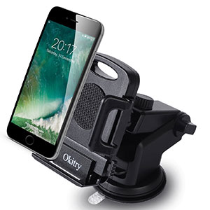 6. Okitry Black Car Phone Holder