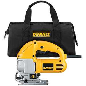 3. DEWALT DW317K 5.5 Amp Top Handle Jig Saw Kit