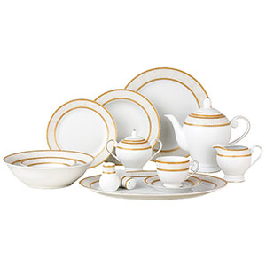 9. Lorenzo Amelia 57-Piece Dinnerware Set