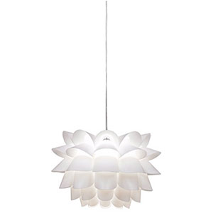 4. Possini Euro White Flower 19.5 inch Wide Pendant Chandelier