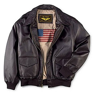 1. Landing Leathers Men's Air Force A-2 Leather Jacket