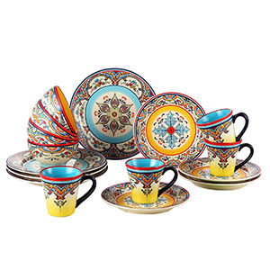 Euro Ceramica Zanzibar 16 Piece Dinnerware Set  sc 1 st  Ahjoo & Top 10 Best Dinnerware Sets in 2018 Reviews