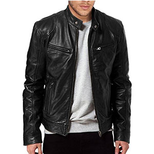 5. The Leather Factory Men's Leather Jacket (SWORD)