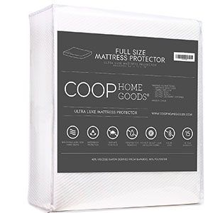 10. Coop Home Goods Ultra Bamboo-derived Viscose Rayon Mattress Pad Protector