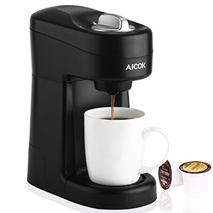 4. Aicok Single Serve Coffee Machine for Most Single Cup Pods Including K-Cup Pods
