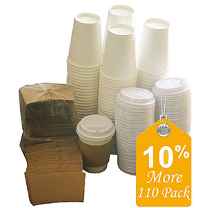 2. Sugarman Creations Paper Coffee Cups with lids