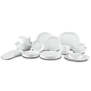 5. Corelle Living ware 74 Piece Dinnerware Set