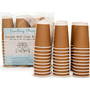 9. Dwelling Place Premium 12 oz Disposable Coffee Cups