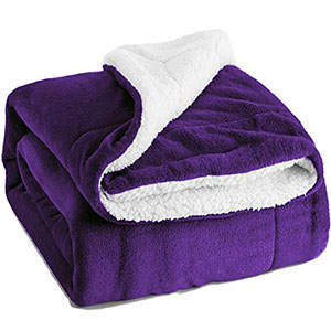 2. Bedsure Sherpa Throw Luxury Fuzzy Microfiber All Season Blanket