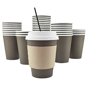 4. AckBrands 100 Pack - 12 Oz Disposable Hot Paper Coffee Cups