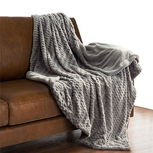 10. Faux Fur Throw Blanket Fleece Bed Throw 50