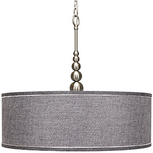 8. Revel Adelade 22 inch Modern Chandelier with Brushed Nickel Finish