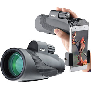 6. Gosky 12x50 High Power Monocular and Quick Smartphone Adapter