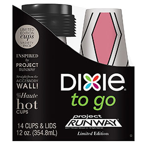 6. Dixie to Go 12-Ounce Disposable Insulated Cups and Lids