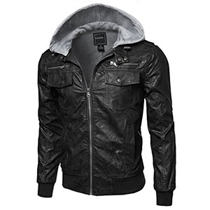 8. Youstar Men's Moto Race Faux Leather Jackets