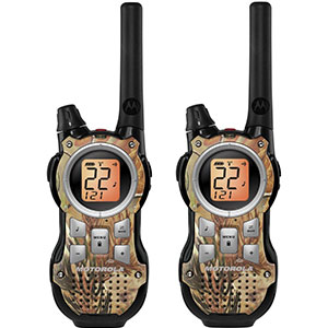 8. Motorola 35-Mile Range FRS/GMRS Two-Way Radio (MR355R)