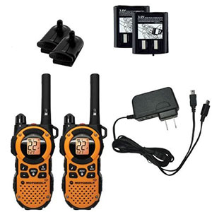 10. Motorola 35 Mile Weatherproof Two-Way Radio Pack (MT350R)