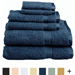 5. Superior Luxurious Hotel & Spa 6-Piece Towel Set