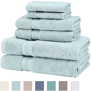 6. Pinzon Pima Cotton Towel Set (6-Piece)