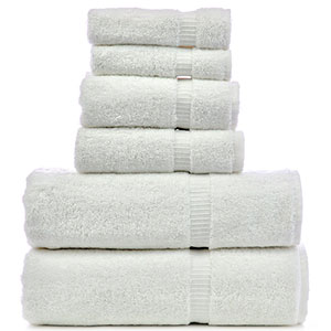 7. Chakir Turkish Linens White Hotel & Spa Bath Towel Set (6-Piece)
