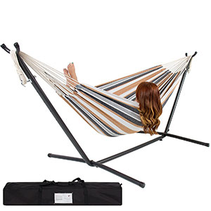 4. Best Choice Products Desert Stripe Double Hammock
