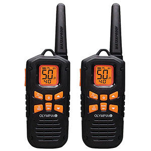 4. Olympia 42-Mile Range Waterproof Two-Way Radios (R500)