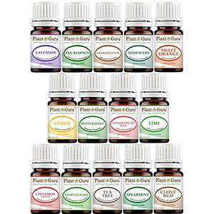 5. Plant Guru 5ml Essential Oil Set (14 Bottles)