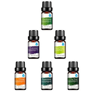 9. Pursonic 100% Pure Aromatherapy Oils Pack (Set of 6)