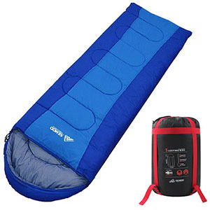 6. SEMOO Portable Envelope Sleeping Bags with Compression Bag