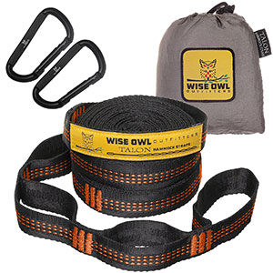 10. Wise Owl Outfitters Tree Hammock Straps
