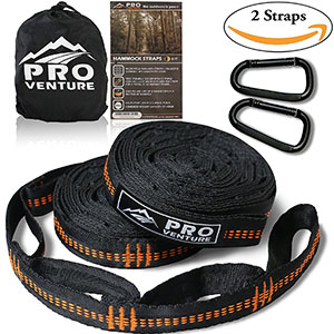 6. Pro Venture Hammock Tree Hanging Straps (Set of 2)