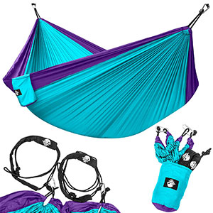 1. Legit Camping Lightweight Portable Double Hammock