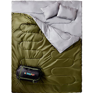 2. Sleepingo XL Double Sleeping Bag