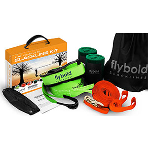 1. flybold Slackline Kit with Training Line Tree Protectors
