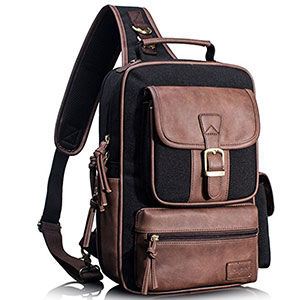 7. Leaper Cross Body Messenger Sling Backpack