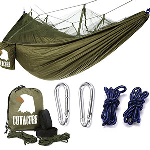 10. Covacure Double Portable Camping Hammock