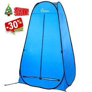 1. WolfWise Pop-up Shower Tent