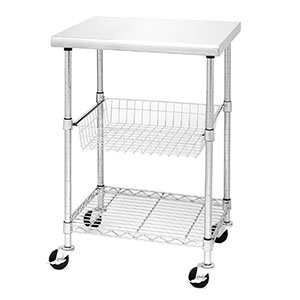 Seville Classics Kitchen Cart Cutting Table