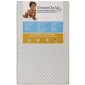 9. Dream On Me White Vinyl Non-Full Size Crib Mattress
