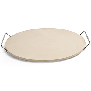 "10. Pizzacraft 15"" Round Ceramic Pizza Stone with Wire Frame"