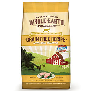 6. Whole Earth Farms Recipe Dry for Cat