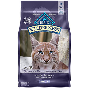 1. BLUE Wilderness High Protein Adult Dry Cat Food
