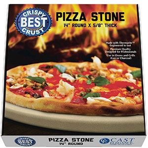 5. CastElegance Pizza Stone with Thermarite