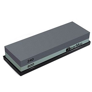 6. BearMoo Whetstone Sharpening Stone (2-in-1)