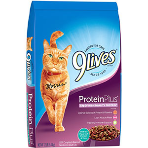 2. 9Lives Dry Cat Food