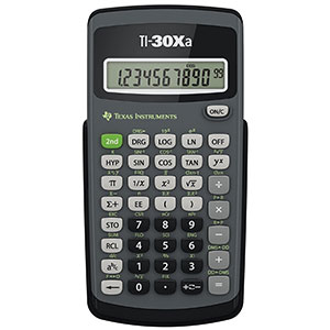 5. Texas Instruments TI-30Xa Scientific Calculator