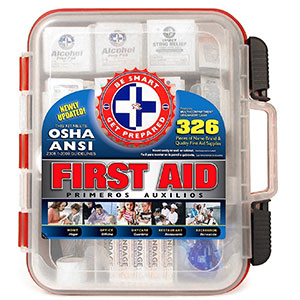 4. Be Smart Get Prepared First Aid Kit (326 Pieces)