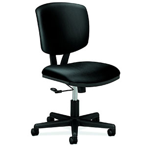 5. HON H5701 Black Leather Computer Chair