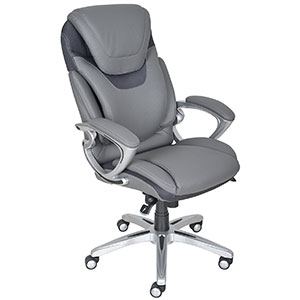 7. Serta Gray Executive Office Chair